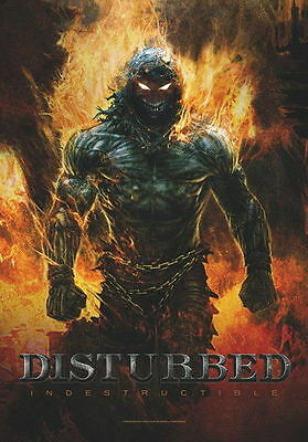 """Disturbed Flagge / Fahne """"indestructible"""" Poster Flag Posterfahne"""