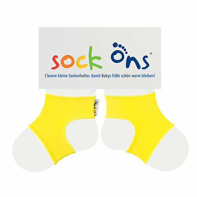 Sock Ons Large 6-12m Yellow (gelb)