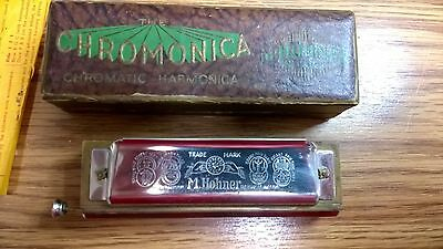 Vintage Hohner Harmonica, The Chromonica Key C, Pre WWII, Rare Excellent!