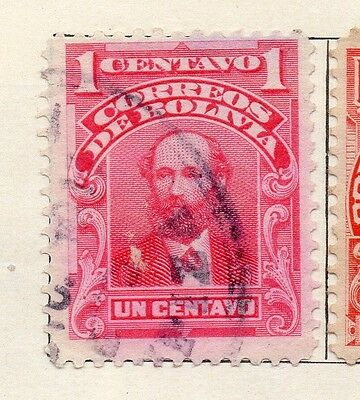 Bolivia 1913 Early Issue Fine Used 1c. 113765