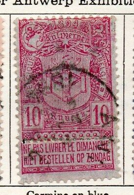 Belgium 1894 Early Issue Fine Used 10c. 114946