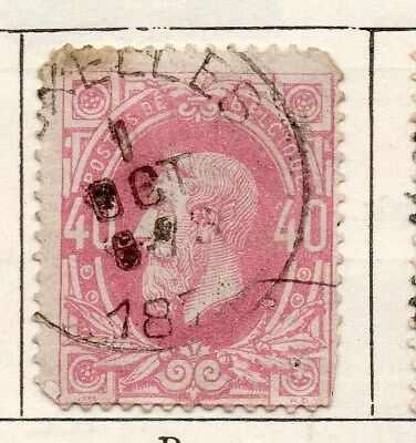 Belgium 1869 Early Issue Fine Used 40c. 115063