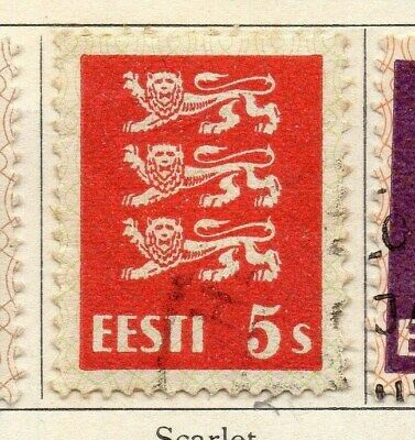 Estonia 1928-29 Early Issue Fine Used 5s. 114132