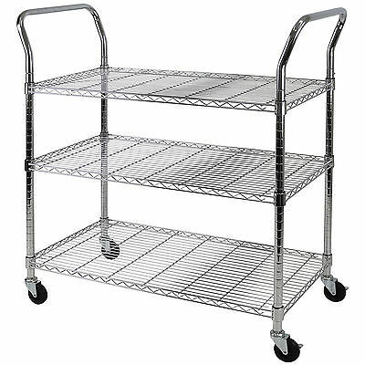 Large 3 Tier Service Trolley Utility/cleaning Clearing/catering Kitchen Tea Cart