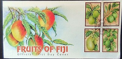 Fiji 2002 Tropical Fruit Set on First Day Cover.