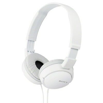 Sony Stereo Headphones, White 1 ea (Pack of 4)