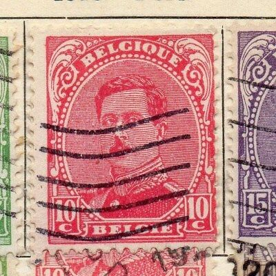Belgium 1915 Early Issue Fine Used 10c. 114327