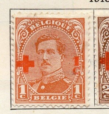 Belgium 1918 Early Issue Fine Mint Hinged 1c. Surcharged 114338