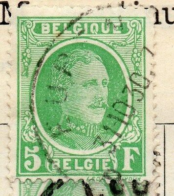 Belgium 1924-27 Early Issue Fine Used 5F. 114382