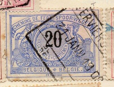 Belgium 1895 Early Issue Fine Used 20c. 114452
