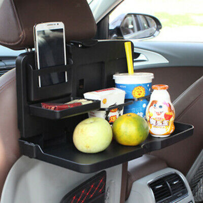 Folding Auto Car Back Seat Table Drink Cup Tray Food Holder Stand
