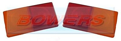 2x RUBBOLITE 1510 3 WAY REAR TAIL LIGHT LENS FOR IFOR WILLIAMS LM WESSEX TRAILER