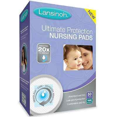 Lansinoh Ultimate Protection Nursing Pads 50 ea (Pack of 5)