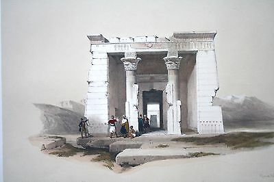 David Roberts 1848 H/C 1st Folio TEMPLE OF WADY DANDOUR NUBIA EGYPT