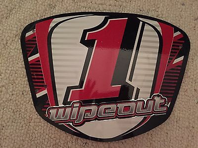 "Super Rare Unique Dynacraft 20'"" Boys' Wipeout Bike Handlebar Sign With #1 On It"