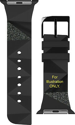 Case Mate Apple Watch, Sport, & Edition 38mm Band ( Black Ridges With Glitter )