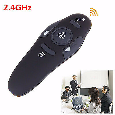 2.4GHz Wireless Presenter Laser Pointers Pen USB Remote Control PPT Page Turning