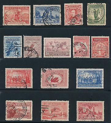 1913 - 1938 Australia VARIOUS ISSUES AS SHOWN, CAT VALUE $80+