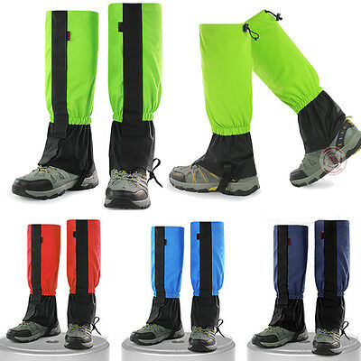 Outdoor Waterproof Hiking Climbing Ski Gaiters Leg Cover Boot Shoes Legging Wrap