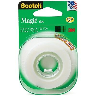 "Scotch Magic Tape Refill Roll 3/4"" x 900"" 1 ea"