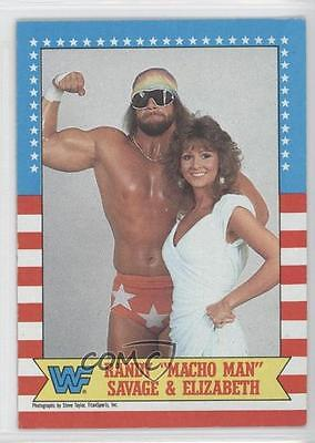 1987 Topps WWF #7 Randy Savage Elizabeth Rookie Wrestling Card 0w6
