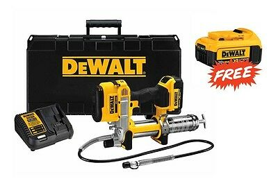 DeWalt #DCGG571M1: 20v MAX Cordless Grease Gun Kit w/ FREE 4.0Ah Battery!!