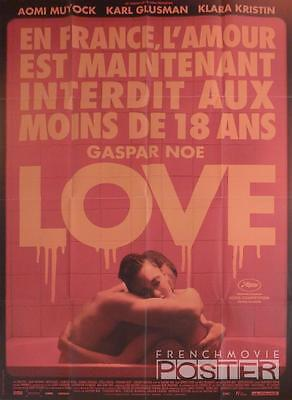 Love 3D - Gaspar Noe / Sexuality / Kiss - Rare Style B Large French Movie Poster