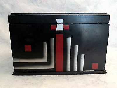 1847 Rogers Bros Silhouette 1930 Art Deco Painted Chest & Silverware HTF