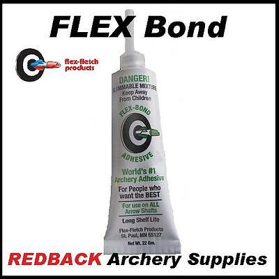 FlexBond Fletching cement for archery arrows carbon wood and alloy