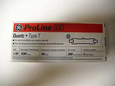 GE Proline 500 Quartz Type T / 1 box 6 Lamps