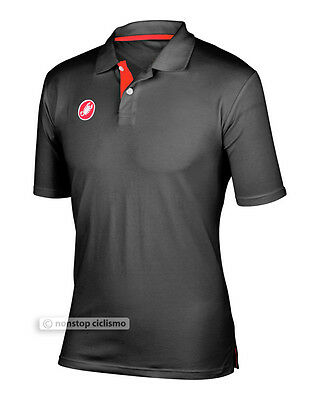 Castelli Race Day Polo Shirt : Anthracite S