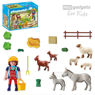 Genuine PLAYMOBIL Country Farm Animal Pen with 7 Animals for age 4+