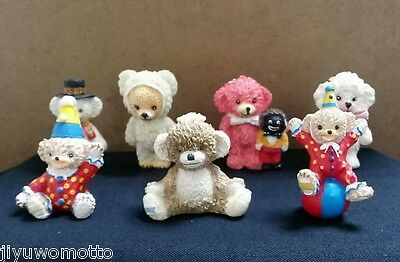 Vintage Merrythought Mini Statue Teddy Bear Set Lot Antique UK Rare