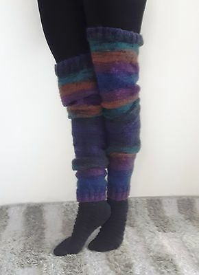 Eva's Designs Hand-knitted Very Long Mohair Leg Warmers