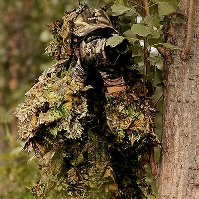 3D Tactical Sniper Camouflage Foliage Bionic Suit Set Camouflage Hunting Forest