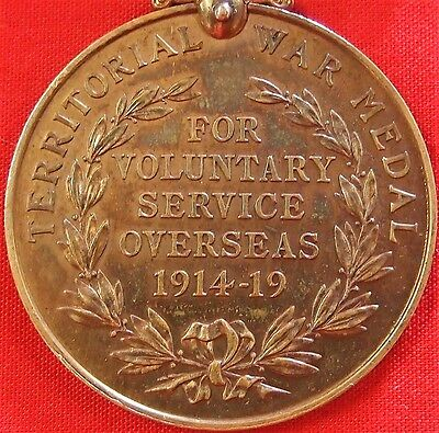 Ww1 British Army Territorial Forces War Medal 1914 - 1919 Hackett M.s.m. Winner