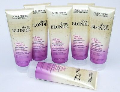 6 x 250ml John Frieda Sheer Blonde Colour Renew Tone Correcting Hair Conditioner
