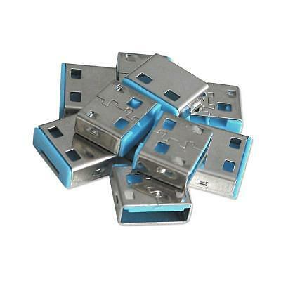 Lindy 40462 USB Port Blocker (without key) - Pack of 10 Colour Code: Blue