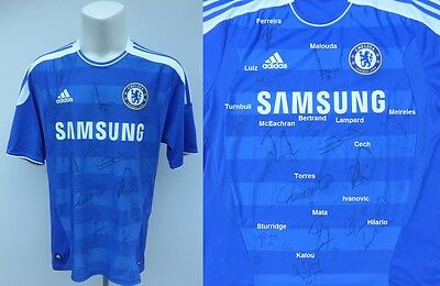 2011-12 Chelsea Home Shirt Signed by Champions League Winning Squad (9394)