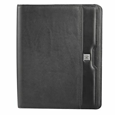 1 x New A4 Cutter & Buck Zippered Compendium Genuine Leather delivery Aust wide