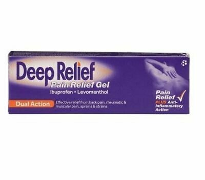 Deep Relief | Pain Relief Gel | Back Pain | Muscular Pain 50g 1 2 3 6 Packs