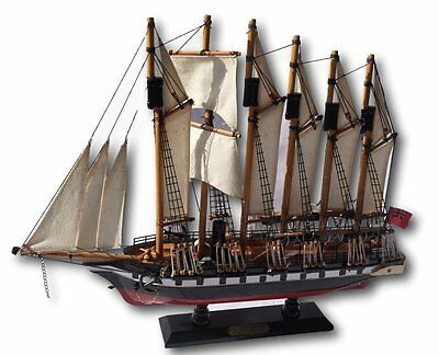 Detailed wooden assembled display model of the SS Great Britain