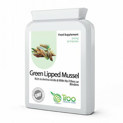 Green Lipped Mussel Extract 500mg 90 Capsules - Pure Joint and Health Support
