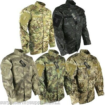 Us Army Style Acu Ripstop Shirt Combat Lightweight Jacket Paintballing Airsoft