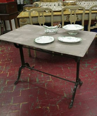 Original Table Small Table Da Bistro French Base In Iron Level Wood Lacquered