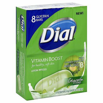 8 Ct Dial Glycerin Soap Bar Vitamin Boost Lotion Infused Healthy Soft Skin 4oz