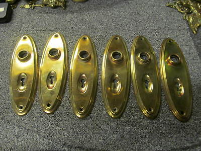 One only Antique: Early 1900s Period Door Knob Backplates   -BBP11a-