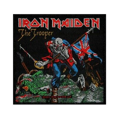 """""""Iron Maiden: The Trooper"""" Single Cover Art Heavy Metal Sew On Applique Patch"""