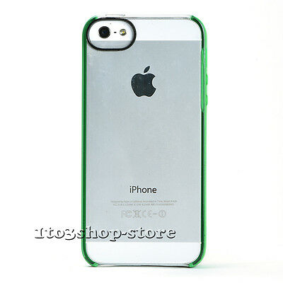 Incase Pro Snap Hard Case Cover w/Grip Edge for iPhone 5S iPhone SE Clear/Green