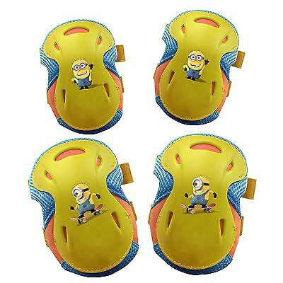 Despicable me 2 minion pad set for Boy Girl - 2 x Knee Pads 2 x Elbow Pads